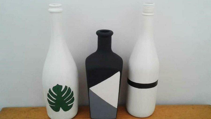 Botellas De Vidrio Decoradas Manualidades