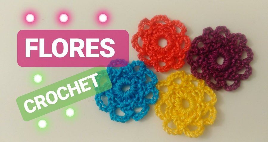 Tutorial De Flores A Ganchillo Idea Facil Y Rapida Manualidades