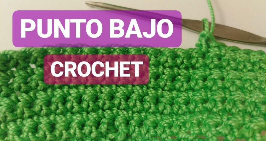 Tutorial: cómo hacer punto bajo en crochet para principiantes ...
