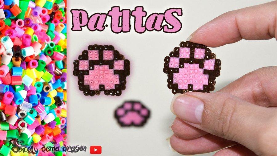 Patitas De Perro Hechas En Hama Beads Manualidades