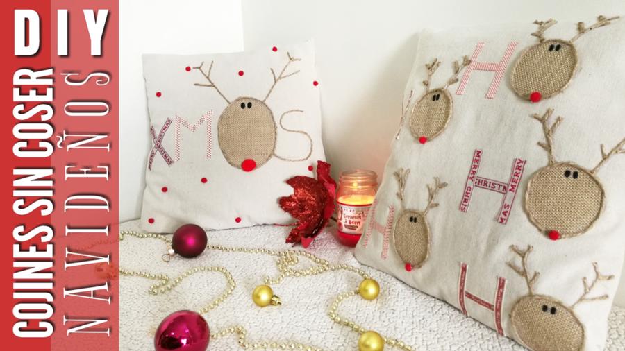 Cojines Navidad Manualidades.3 Tecnicas Para Hacer Cojines Sin Coser Muy Faciles