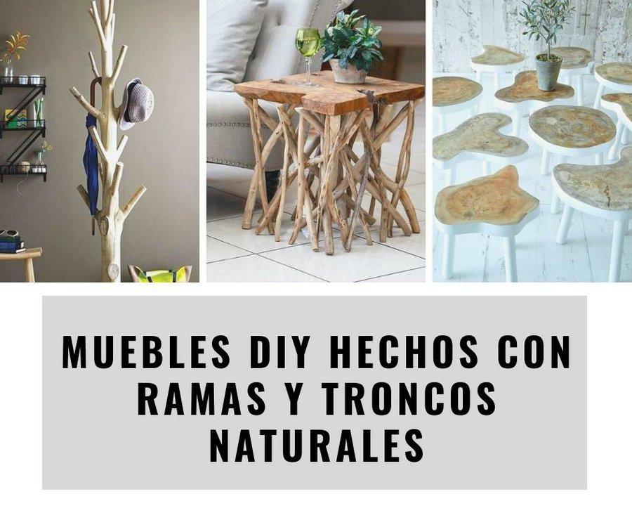 Muebles Diy Hechos Con Ramas Y Troncos Naturales Bricolaje
