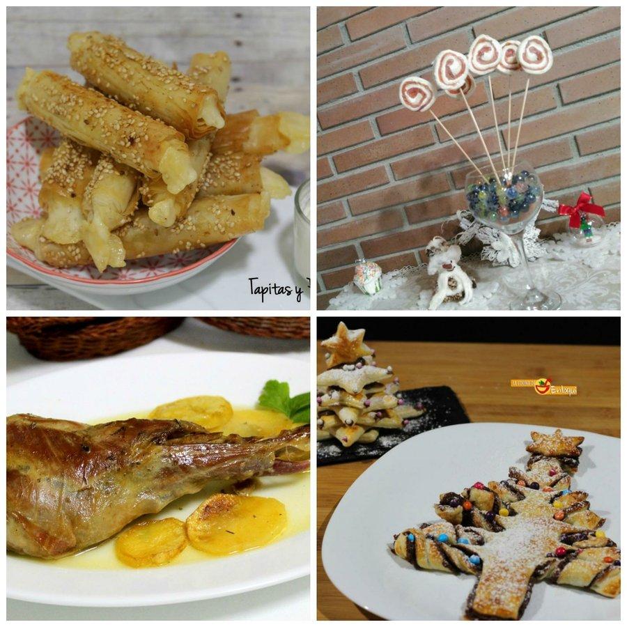 Men para comidas y cenas navideas Cocina
