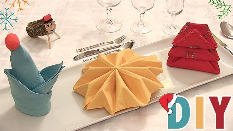 Servilletas de papel manualidades - Doblar servilletas para navidad ...
