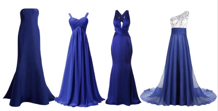 Combinar Un Vestido Azul Con Colores Básicos Bodas