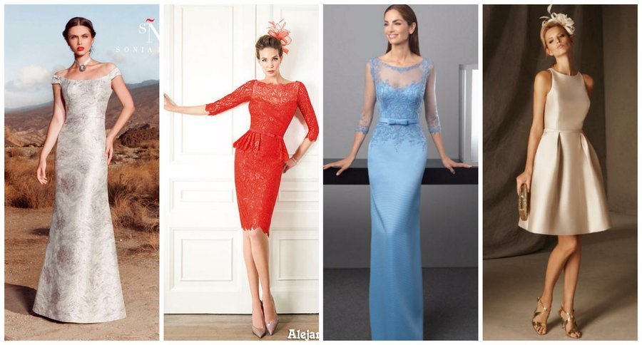 vestidos elegantes para mujeres maduras | bodas
