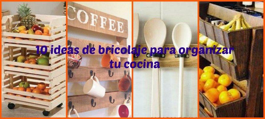 10 ideas de bricolaje para organizar tu cocina | Bricolaje