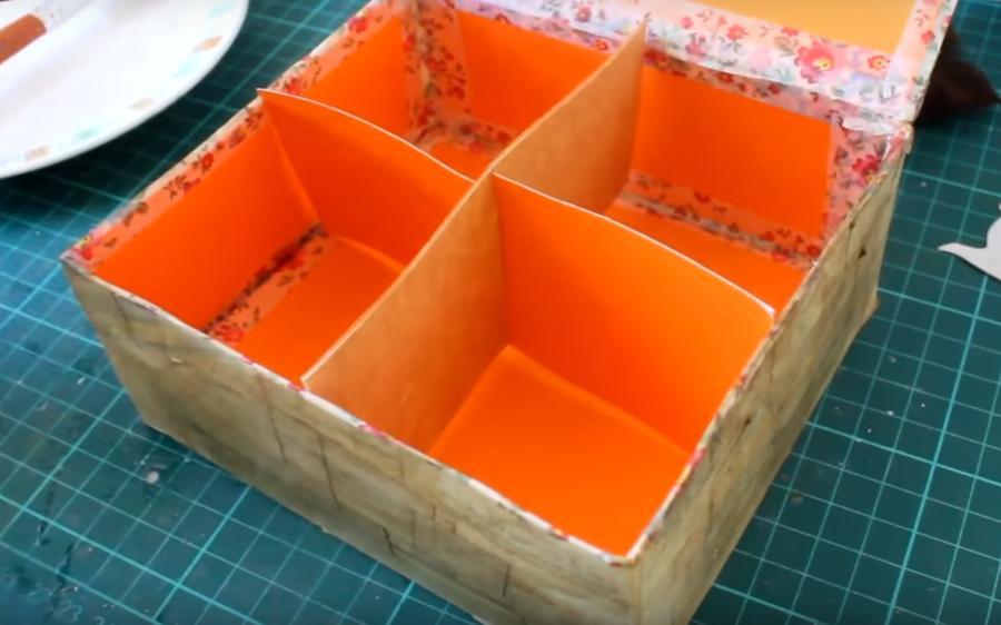 C mo hacer una caja de t con material reciclado diy - Como hacer una caja para te ...