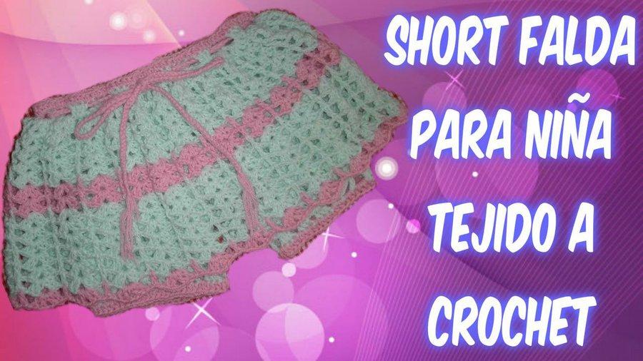 6324270b5 Falda short a crochet para niña de dos años by Dulce Corazón ...