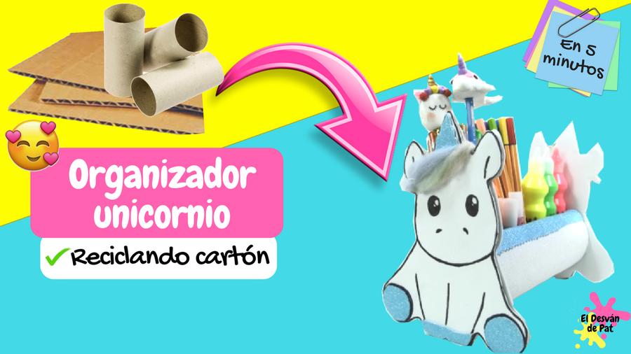 Manualidades Faciles Organizador Unicornio Reciclando Carton