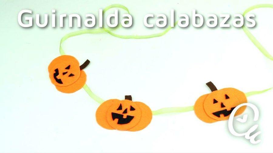 Cómo hacer una guirnalda de calabazas para Halloween | Manualidades