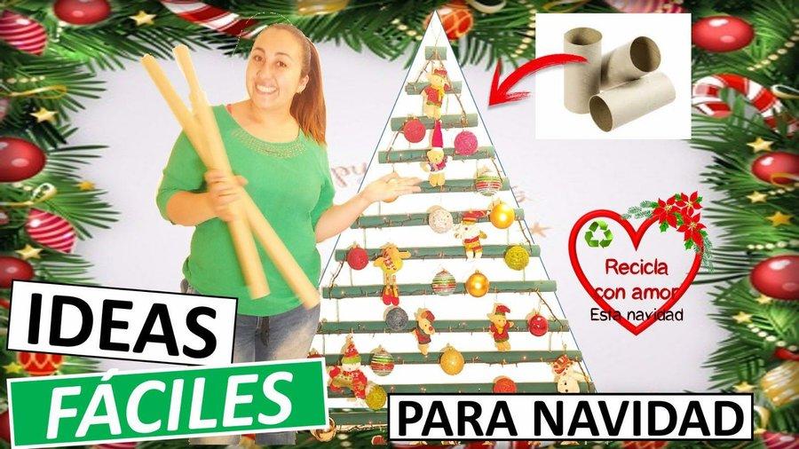Aprende Como Hacer Un Arbol De Navidad Con Tubos De Carton