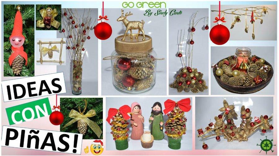 Manualidades Para Navidad Paso A Paso Faciles.11 Manualidades Para Navidad Faciles Con Pinas De Pino