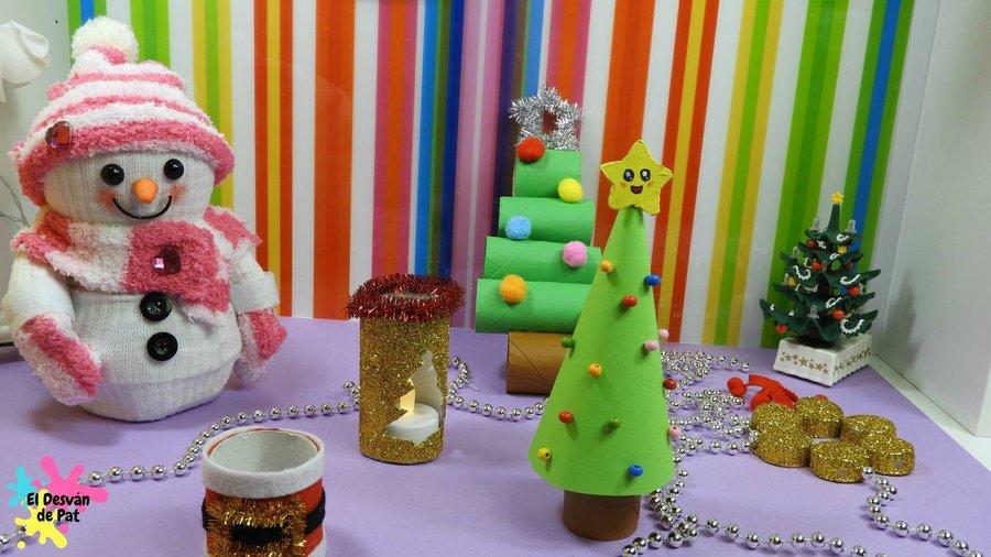 5 manualidades para Navidad con reciclaje Manualidades