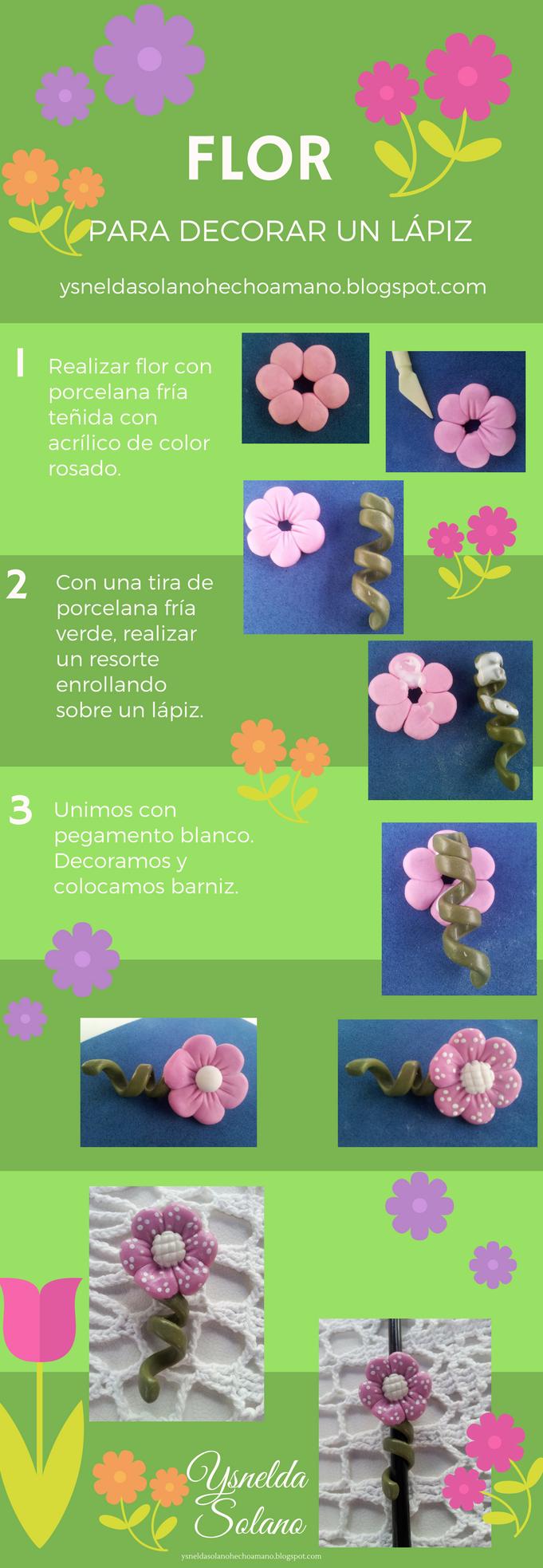 Ideas para decorar lápices con porcelana fría | Manualidades