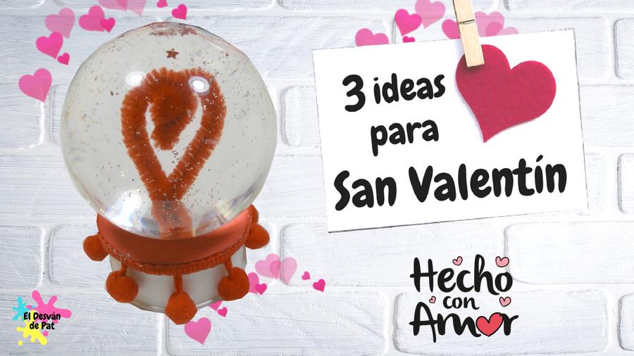 3 corazones cosidos para el Día del Amor | Manualidades