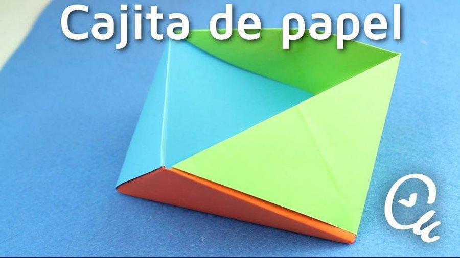 Papiroflexia Cómo Hacer Cajitas De Papel Manualidades