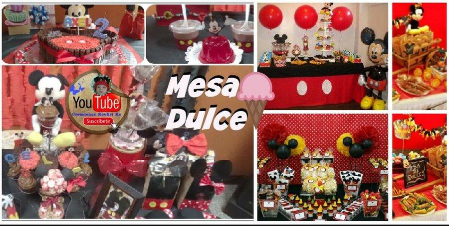 7649ed708 Ideas para una mesa dulce de Minnie y Mickey Mouse