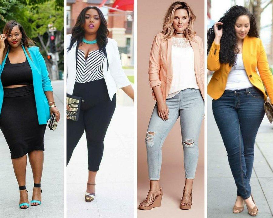 39 outfits con blazer para chicas de talla grande