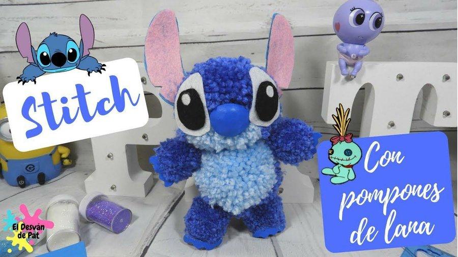 Peluche De Stitch Diy Con Pompones De Lana Manualidades