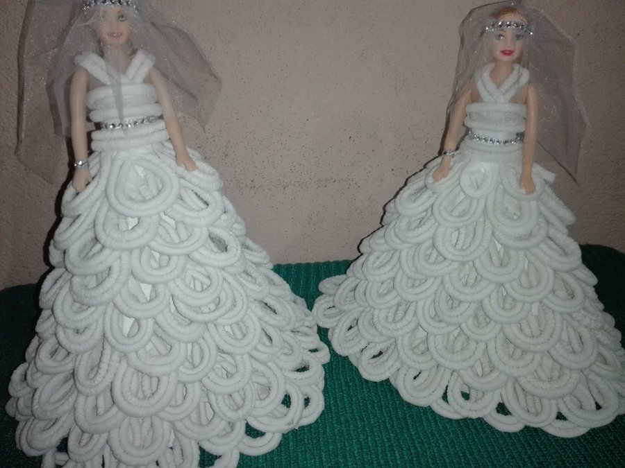 Vestidos de novia de papel para munecas